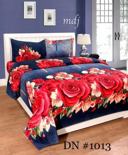 757b8830eb Floral Printed Bed Sheets Synthetic 3d Printed Bedsheet, Size: 88 ...