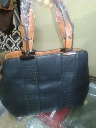 Black Ladies Leather Handbags, Pure Leather: Yes