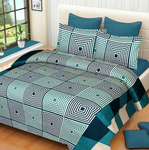 Cotton Semi Double Bed Sheets With 2 Pillow Covers