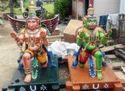 Brown Vahanam Wooden Sculpture