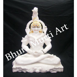 White Marble Lord Shiv Statue