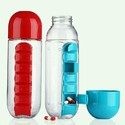 Pill & Vitamin Organizer Water Bottle