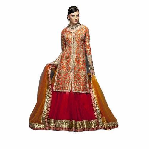 313d8ea3fd Long Jacket Style Lehenga at Rs 12000 /piece   Chandni Chowk   Delhi ...