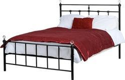 Polished Metal Single Bed, For Hotel