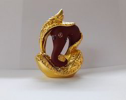 Maroon Sagn Car Dashboard Ganesha