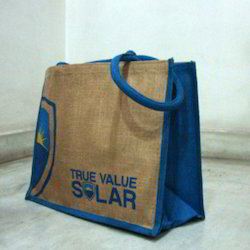 Jute Bag With Dyed Gusset