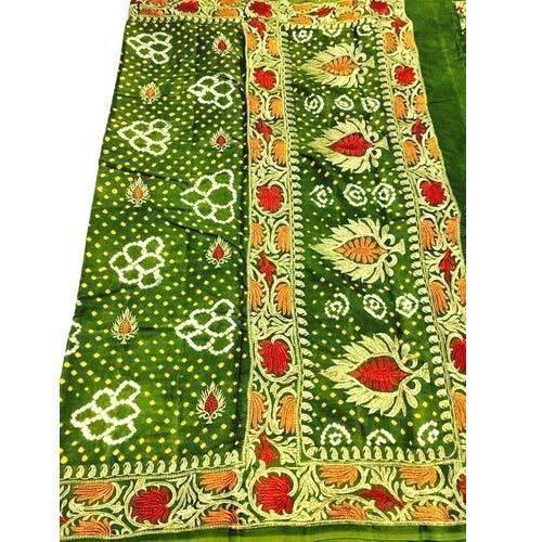 6ce53c96f7 Cotton Silk Gaji Silk Bandhani Saree, Rs 600 /piece, Ajay Kumar ...