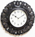 Wood Carving Wall Clock