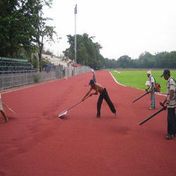 Color Coated Athletic Track