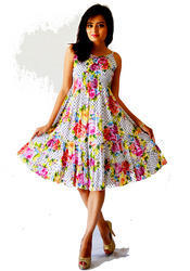 New Arrival Flower Print Casual Dress