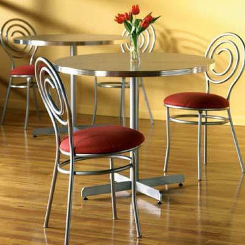 Delicieux Stainless Steel Dining Table Set