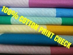 Cotton Printed Check Fabric (Facebook)