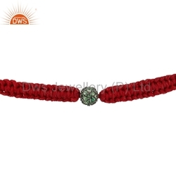 925 Silver Tsavorite Gemstone Bracelets