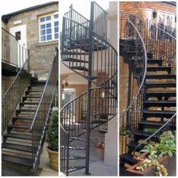 Spiral Mild Steel Iron Staircase