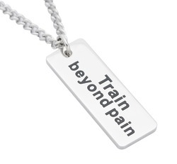 Train Beyond Pain Slogan Pendants