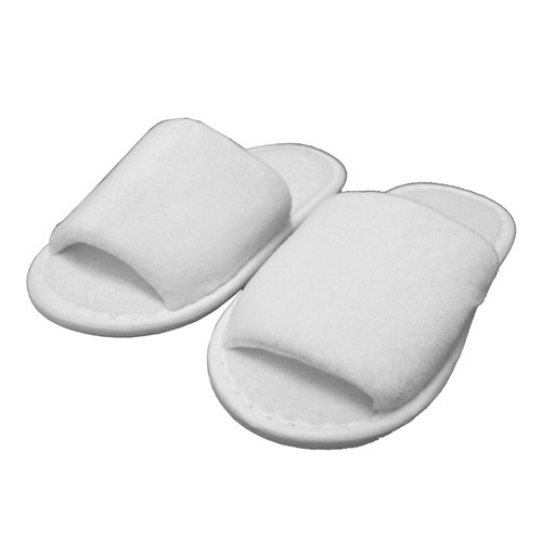 8f2c66b2b4bcf White Open Toe Terry Towel Slippers