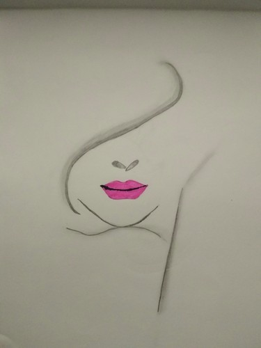 Woman face sketch