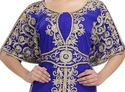 Modern Machine Embroidery Made Caftan
