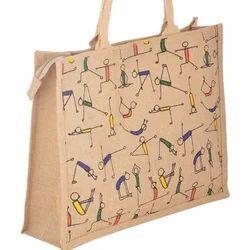 Jute Printed Yoga Bags