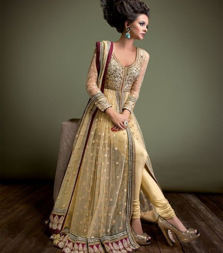 Georgette And Net Casual And Wedding Wear Ethnic Party Wear Gown ...