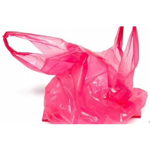 Pink Plain Plastic Bag, Capacity: 2kg