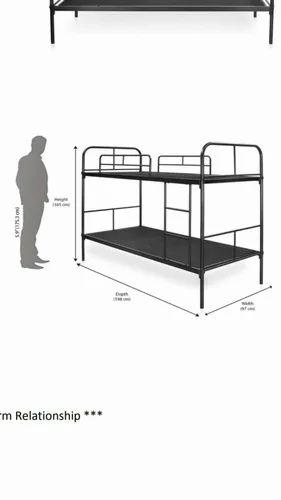 Black GK Iron Bunk Beds, GK02090