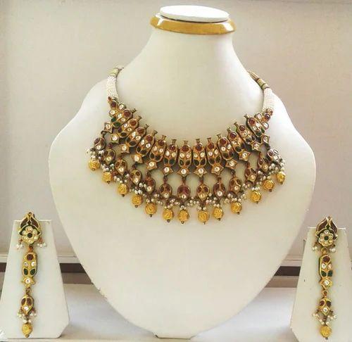 4099245d17da0 Multi Jadtar Bikaneri Necklace Set