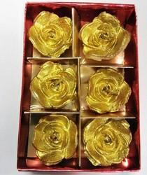 Golden Floating Flower Candles DD409A