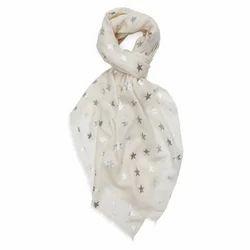 Merino Super Wool Foil Printed Scarves
