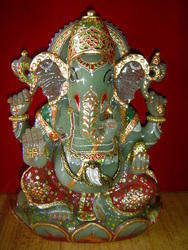 Gemstone Ganesh Statue