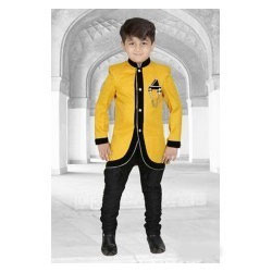 Boys Yellow Sherwani