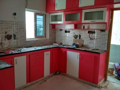 Colourful Modular Kitchen Rs 900 Square Feet Apna Interior Design