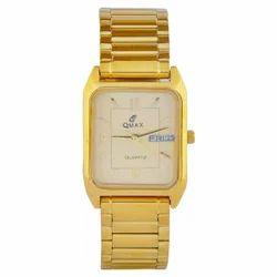 5408- GDC Gents Rectangular Dial Golden Chain Wrist Watch