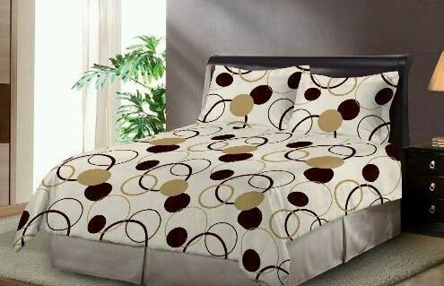 Printed Polyester Bedsheets Fabric, GSM: 100 150