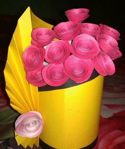Art Paper Flower Vases & Art Paper Flower Vases Rs 599 /pair Paper Design   ID: 19617316762
