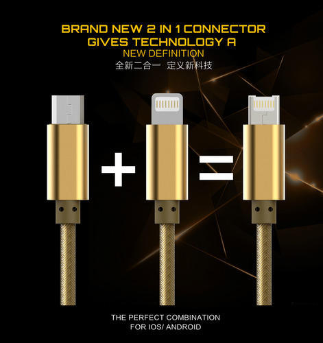 LDNIO 2 In 1 Fast Connector For Iphone And Android