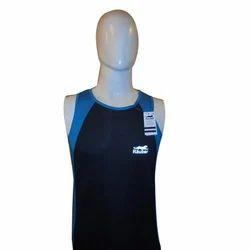 Black, Blue Rauber Plain Sports T Shirt