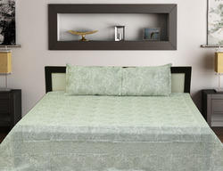 Handblock Mugal Jal Bedsheet With Pillow Covers