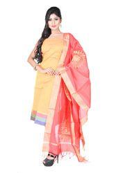 Yellow Chanderi Salwar Suit