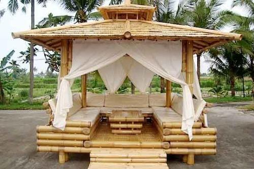Wood Bamboo Hut Rs 700 Square Feet Thatched Roof Eco