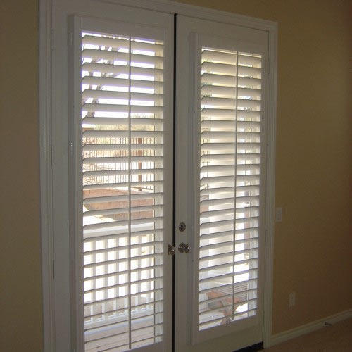 White Door Wooden Blinds Lication Office Home