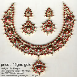 Necklace Earring Without Jadai