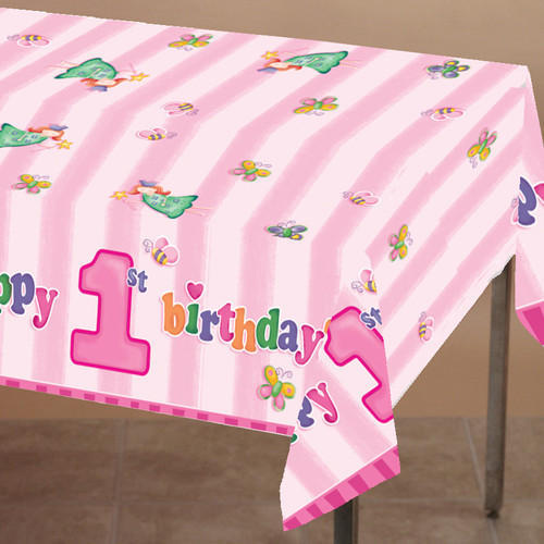 Creative Converting Fun At One Girl Plastic Table Cover Planet