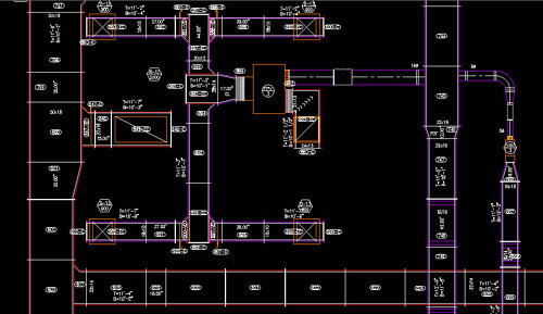 autocad hvac drawings pictures hvac cad drafting service, drafting service in padur ... #4