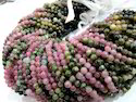 Watermelon Tourmaline Round Beads