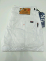 Mens White Cotton Jeans