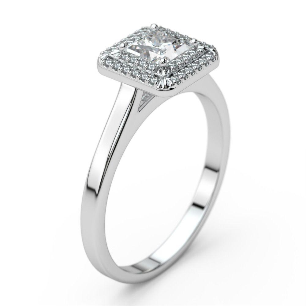Sheetal Diamonds Women S Certified Princess Cut Diamond Engagement Ring In 14k Gold Rs 46000 Piece Id 12704364448