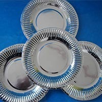 silver paper disposable plates