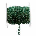 Green Onyx Gemstone Beaded Dangle Chain