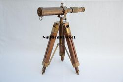 Nautical Antique Maritime Decor Vintage Brass Telescope